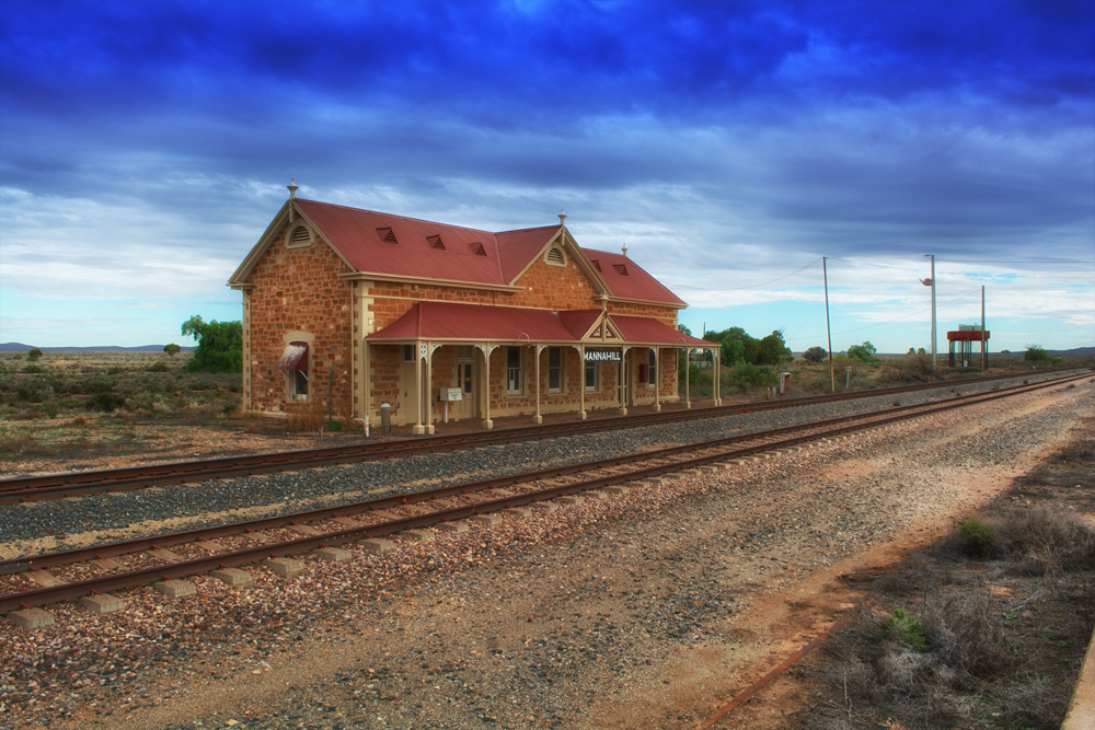 Mannhill railway station constructed in 1886